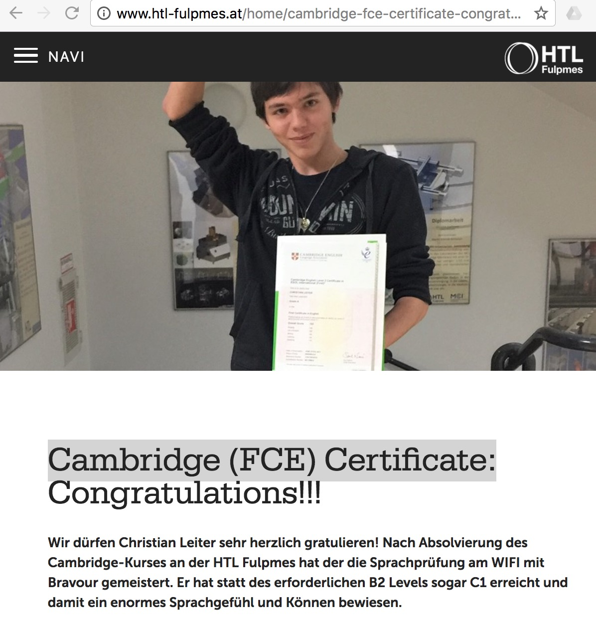fce cambridge certificate fulpmes htl datenschutzerklaerung sitemap castle